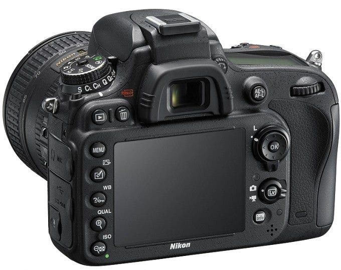 Nikon D610 Rear Slanted