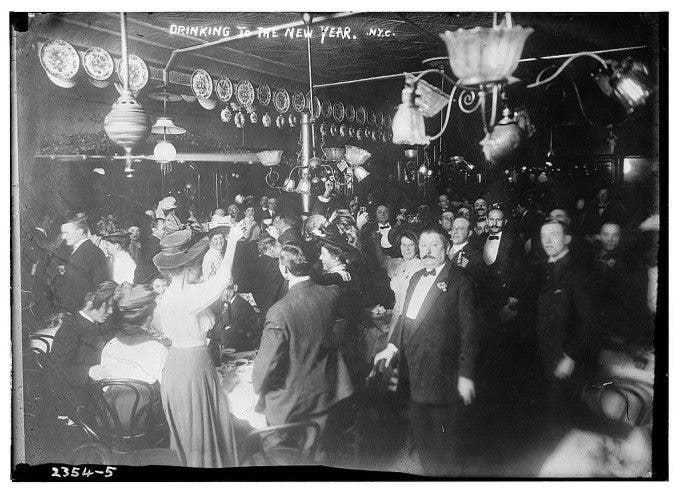 Drinking to the New Year, N.Y. 1910
