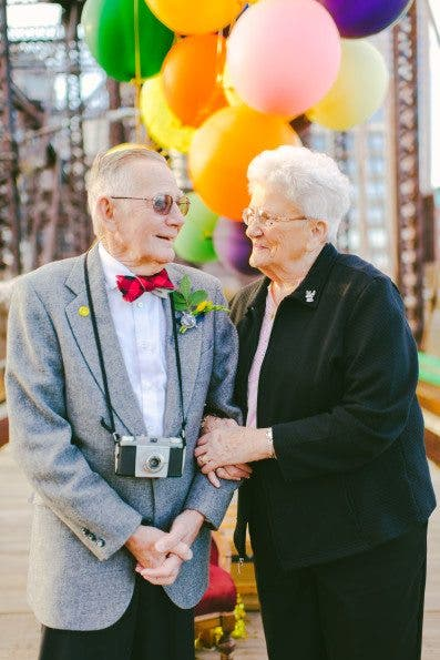 Couple Finally Gets their Wedding Photo Shoot, 61 Years Later
