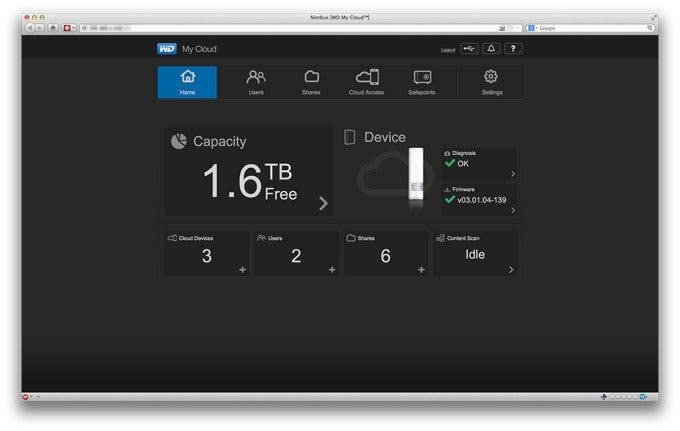 Western Digital, WD My Cloud 2TB Personal Cloud Storage, Hard Drives, Cloud Storage, Software, Accessories, NAS, Network-Attached Storage