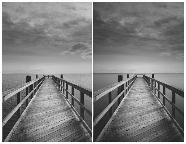 Images taken without and with an ND filter
