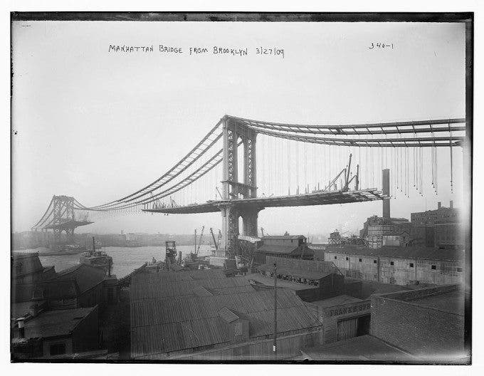 Old Photographs Of Nyc S Bridges When They Were Being
