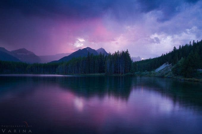 Storm over Herbert Lake - Banff National Park - Alberta, Canada