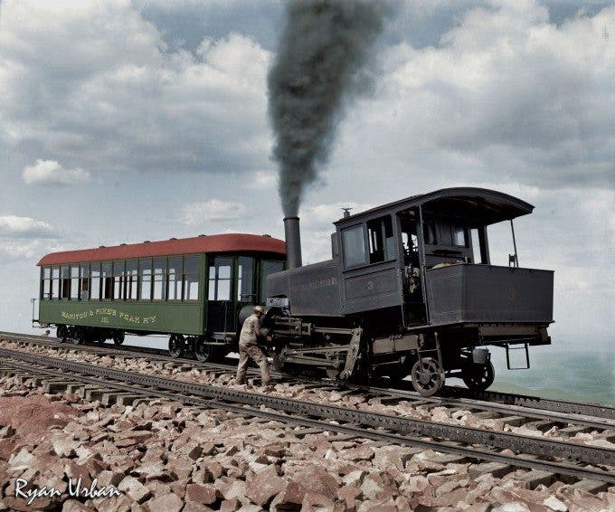 Cog Train Railway. Pike's Peak, Colorado circa 1900 - Imgur