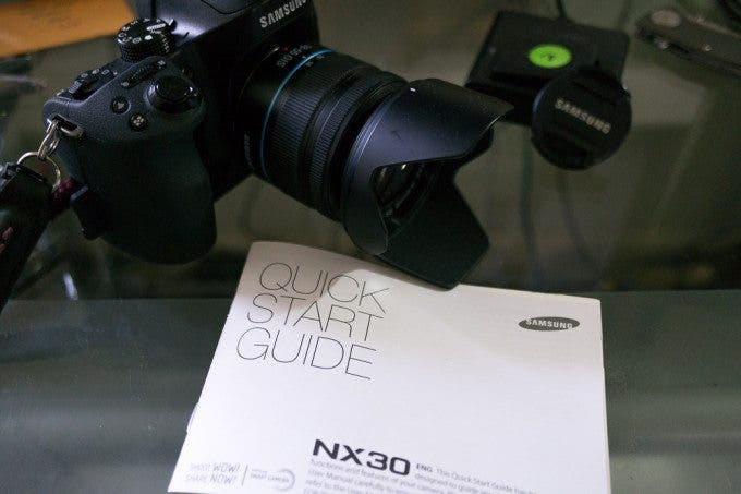 Instruction manual for Samsung NX30