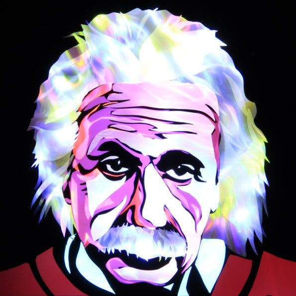 Jason D. Page Light Painting Albert Einstein 1