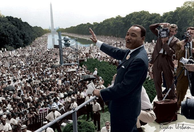 MLK Delivering His Speech in Washington, DC. August 28, 1963  - Imgur