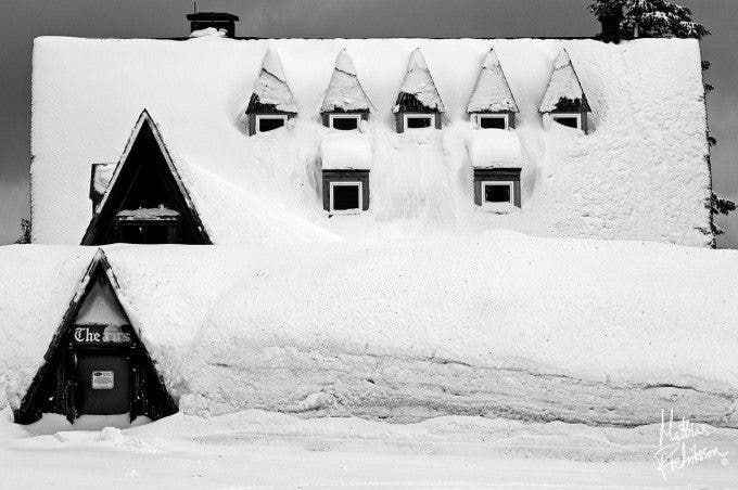 Oversnowed house in Mt Baker, Washington, USA. Photographed in January 2012