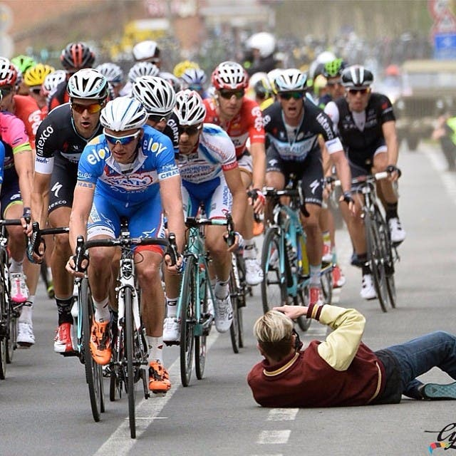 Photographer Gets in the Way of a Race, Prompts a Hilarious Reddit Photoshop Battle