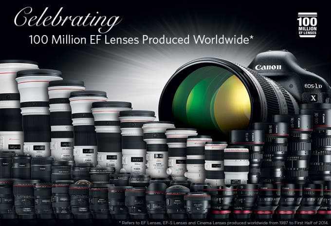 Canon 100 Million EF Lenses