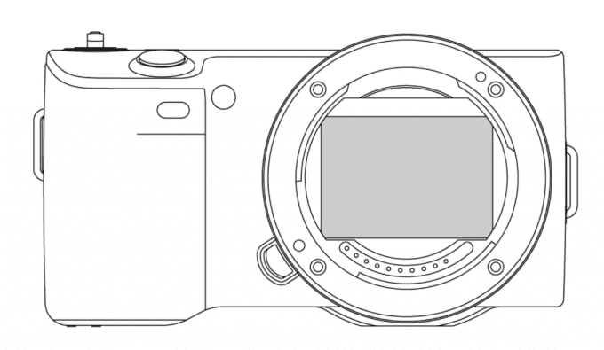 Sony NEX-5-like full-frame E-mount camera patent