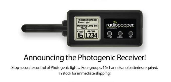 Radiopopper photogenic trigger