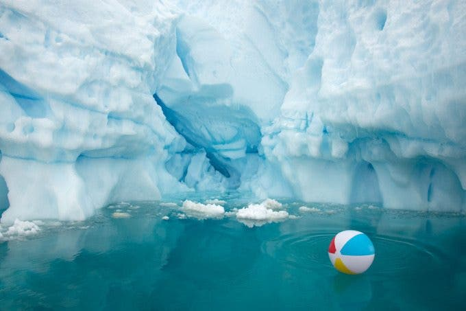 Beach Ball Iceberg Horizon
