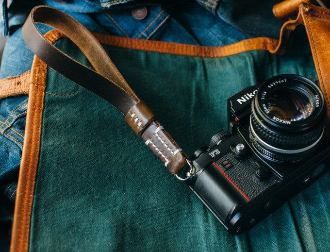 Tap And Dye Legacy Horween Chromexcel Camera Wrist Straps