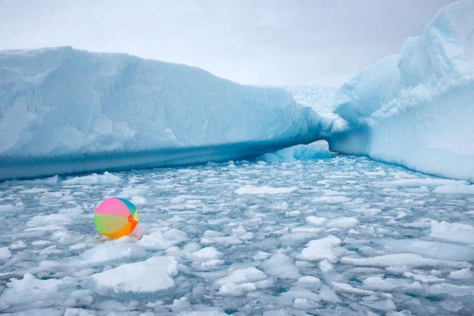 Neon Beach Ball Icebergs