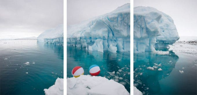 Two Beach Balls Triptych