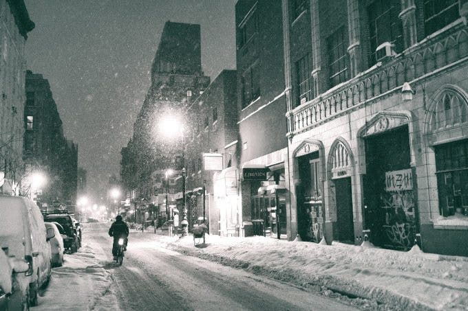 new york city - winter on the lower east side