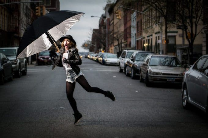 "Creating the Photograph: Chris Gampat's ""The Windy Umbrella"""