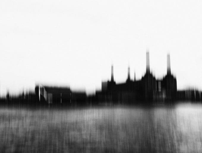 Battersea Power Station B&W from Urban Landscape.