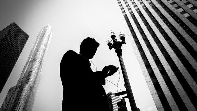 Another working day - Chicago, United States - Black and white s
