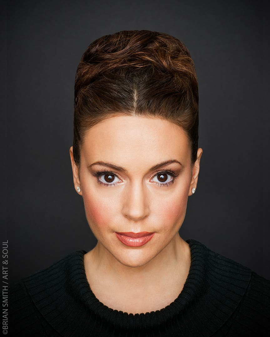 Alyssa Milano photographed for 'Art & Soul' in partnerhip with The Creative Coalition and Sony.