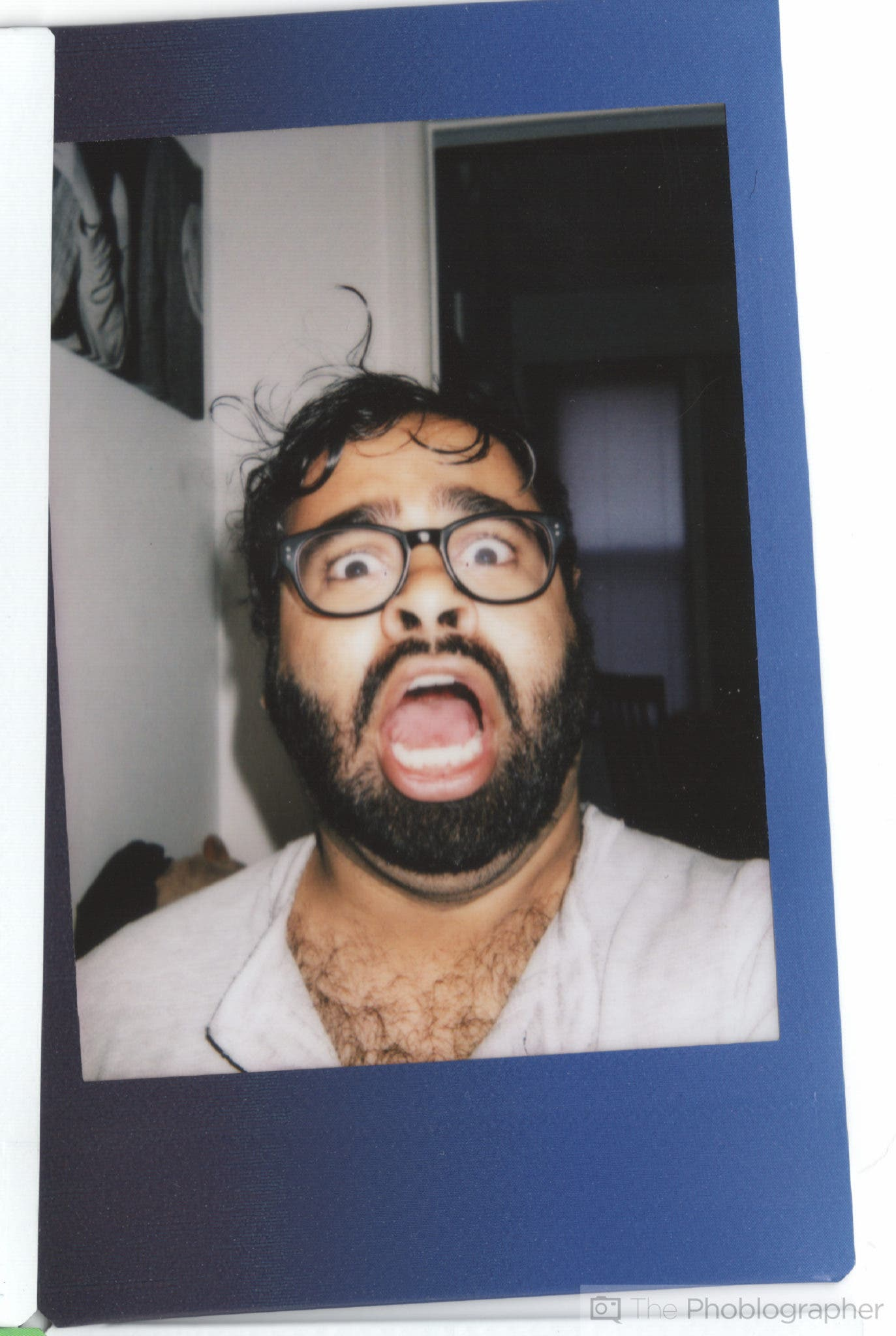 Chris Gampat The Phoblographer Fujifilm Instax Mini 70 scan selfie alone (1 of 1)