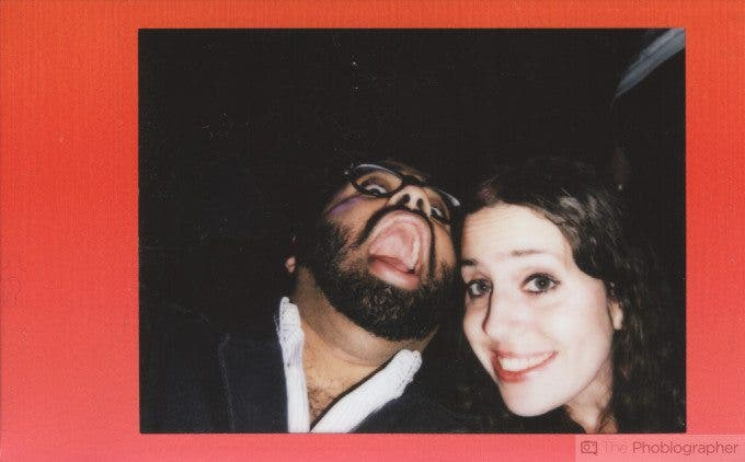 Chris Gampat The Phoblographer Fujifilm Instax Mini 70 scan selfie with Jordana (1 of 1)