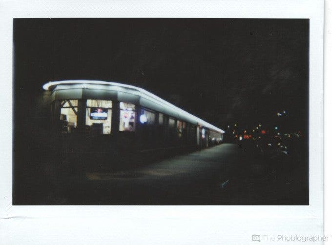 Chris Gampat The Phoblographer Lomo'Instant Wide image scan at night (1 of 1)