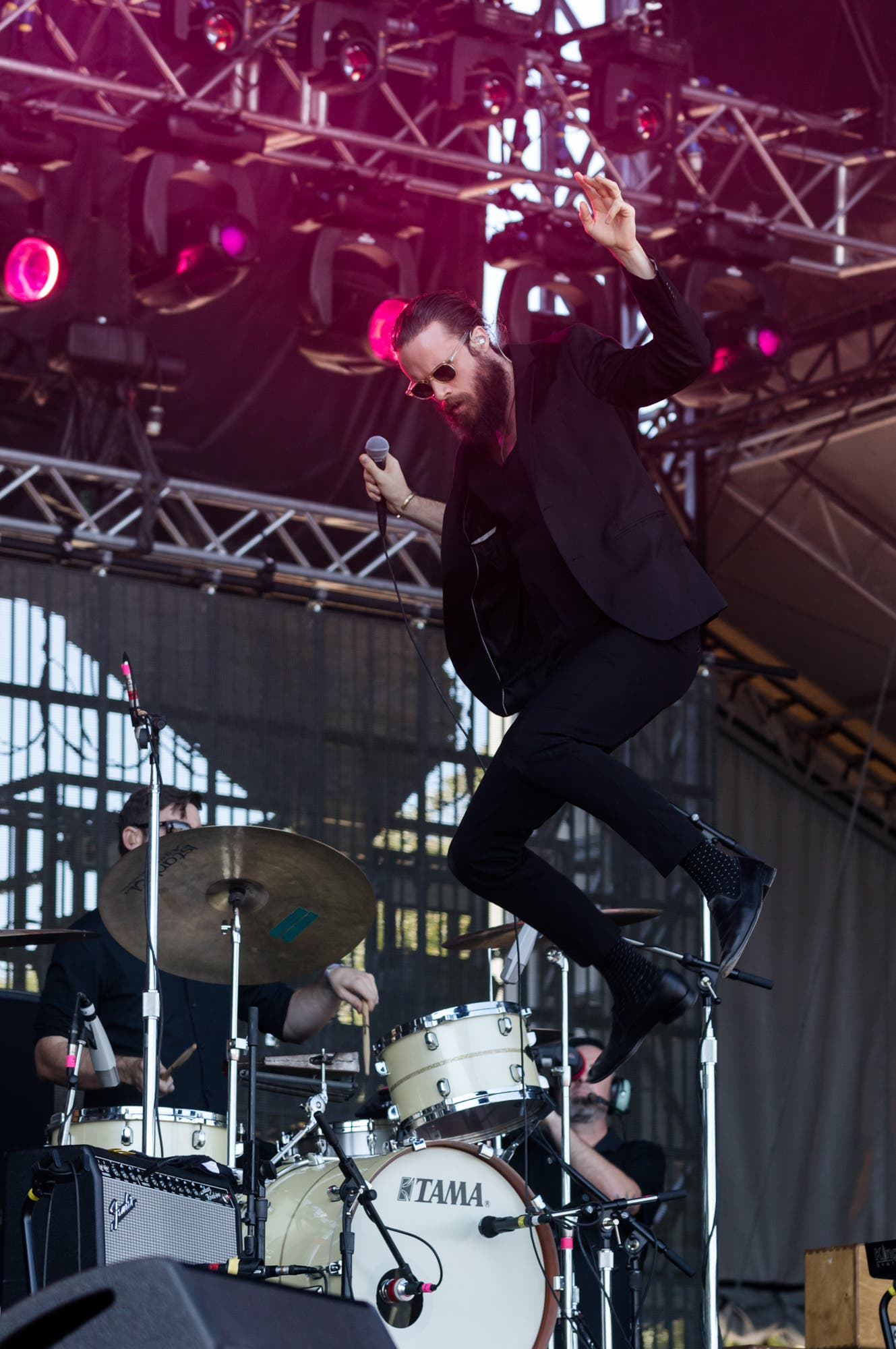Father John Misty playing the Honda stage at Austin City Limits Weekend One on Saturday, October 2, 2015.