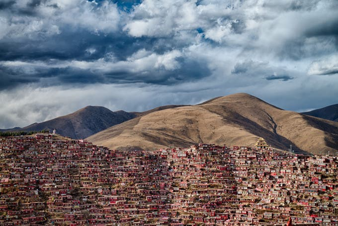 Home of 40 thousand Buddhist monks in Sichuan province ©Attila Balogh, Hungarian, Shortlist, Open, Architecture, 2016 Sony World Photography Awards