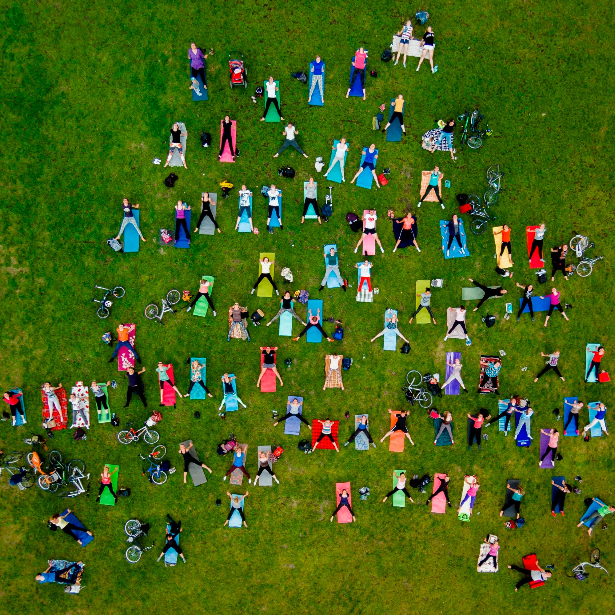 Image Description:  People on mass yoga exercise in the central park of Vilnius.  Copyright: ©Karolis Janulis, Lithuania, Shortlist,Open, People, 2016 Sony World Photography Awards