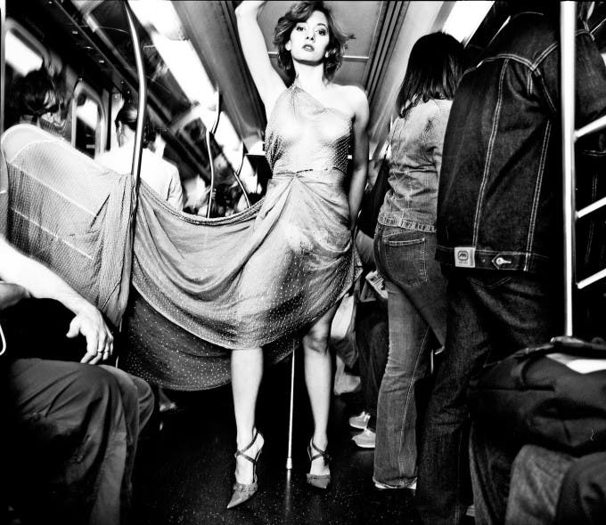 C. Stephen Hurst: Fashion Photography on the NYC Subways