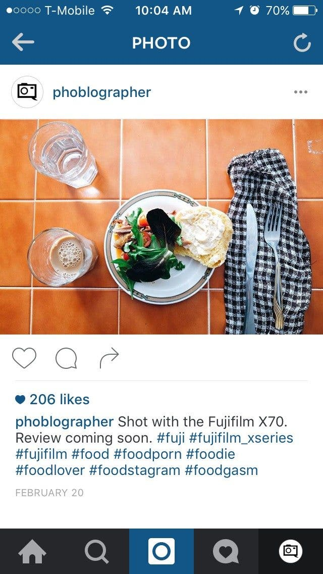 Creating Better Food Photos for Instagram