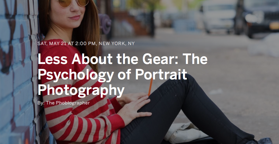 Saturday: Learn How to Take Better Portraits With Your Current Camera