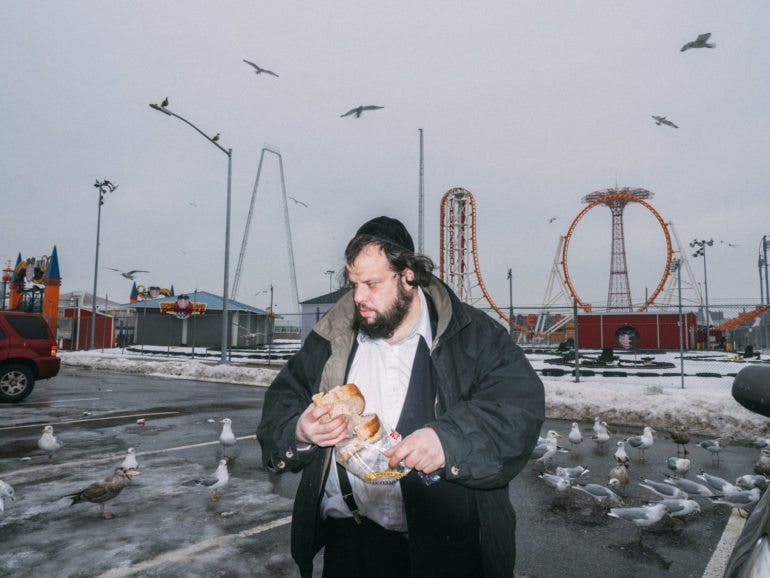 Name: David at Coney Island. Winter of 2013 or '14. Very quiet, peaceful guy. He has his own thing going on. He seems like a bit of a loner. A endangered species? I hope not. I shot lots of slomo footage at this same time and made this video of him for my doc series FACES.
