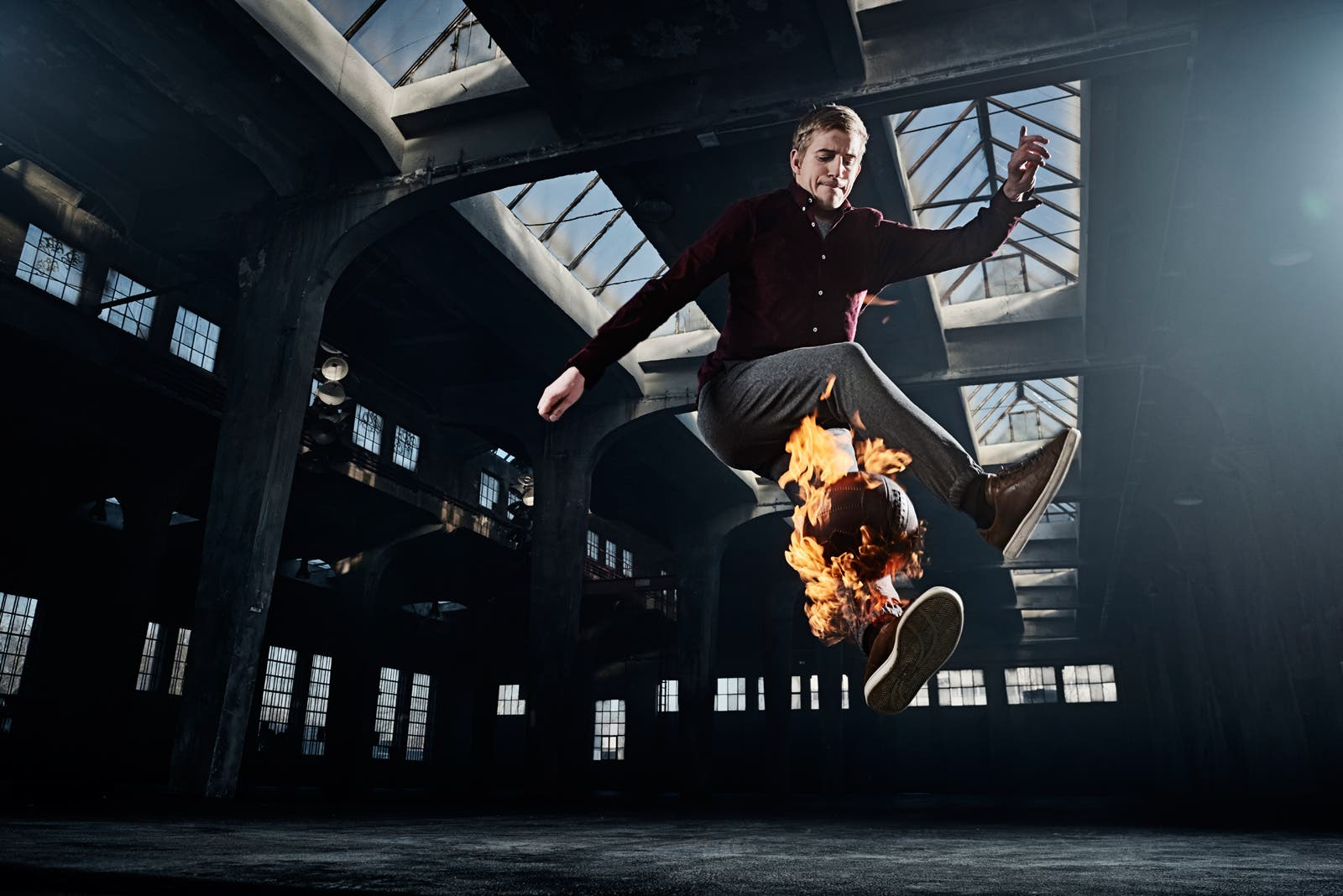 This Shoot Makes Athletes Play With a Fireball