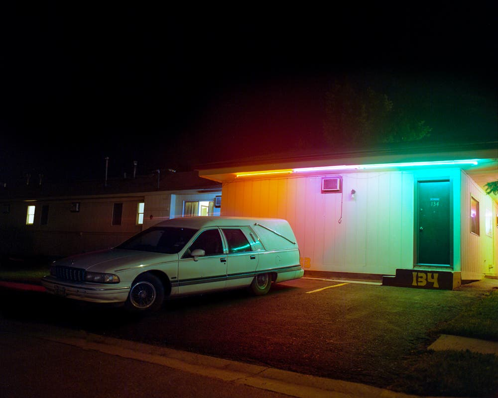 Night Owls: A Colorful Analog Photo Project on Old School Cars