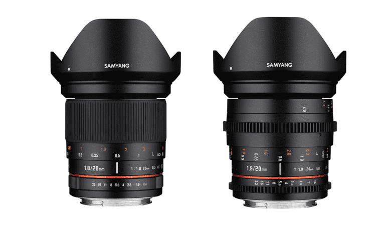 Samyang Introduce 20mm Photo and Cine Lens