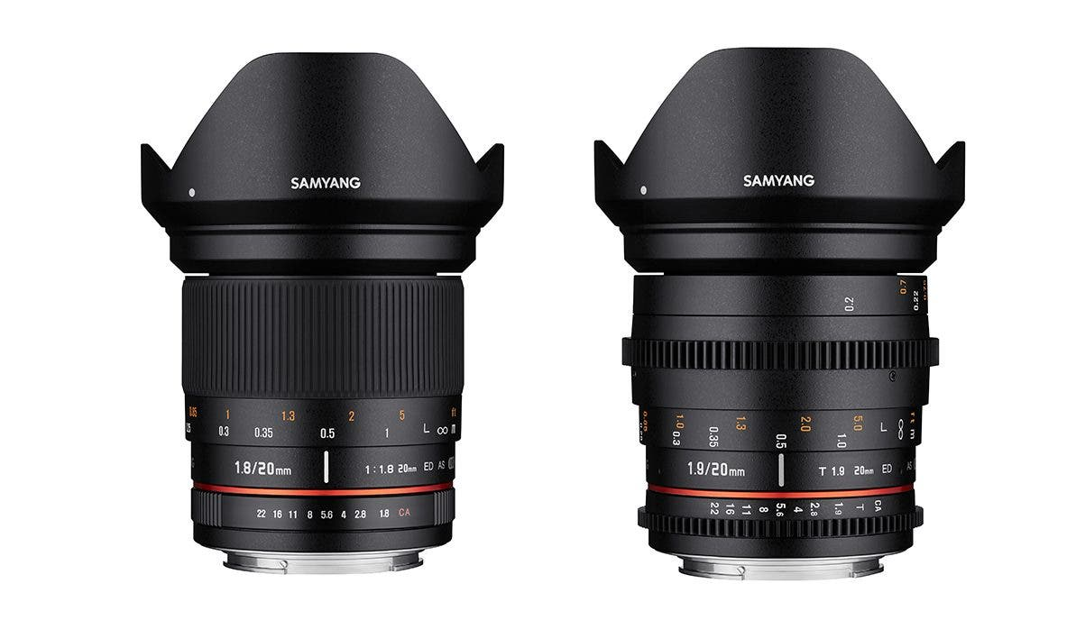 Samyang's New 20mm F1.8 To Be Available in Both Still and Cinema Versions