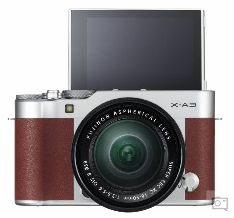 X-A3_Brown_16-50mm_front_tilt180