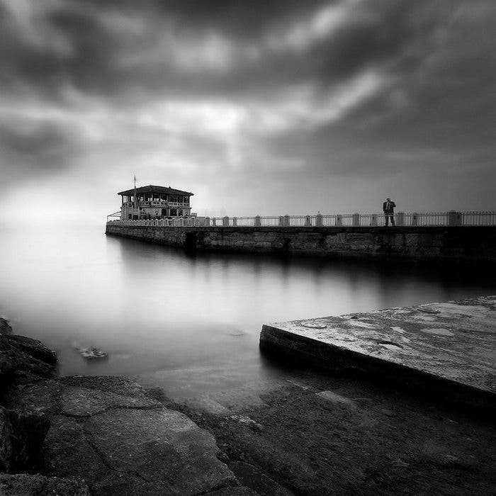 Men Alone: Haunting Black And White Long Exposure Landscapes