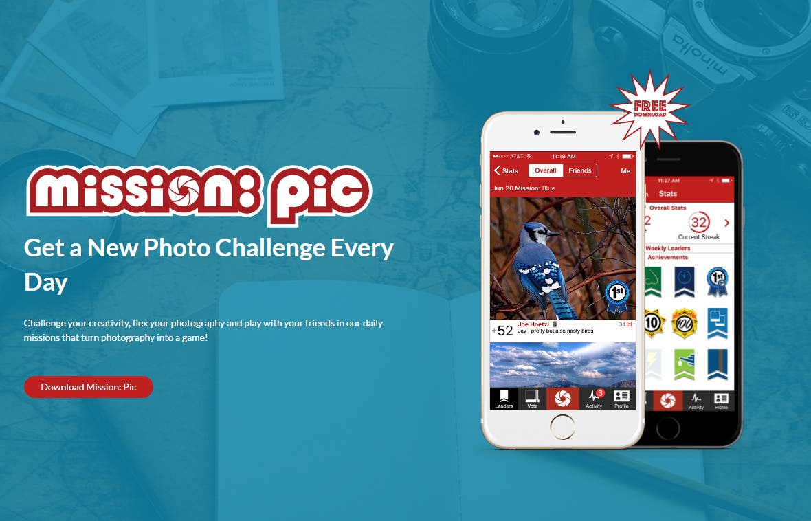 Mission: Pic Offers Daily Prizes for 365 Photo Challenges