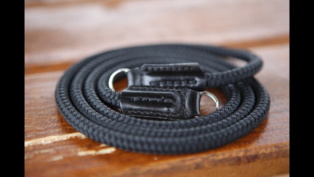 Opus Camera Strap Is Made Of Handcrafted Leather, Sailing Rope And Hardened Chrome Split Rings
