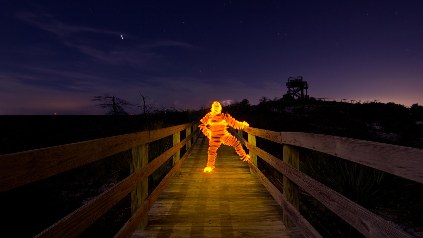 """Check Out Jason D. Page's Creative """"Light Man"""" Light Painting Tutorial"""