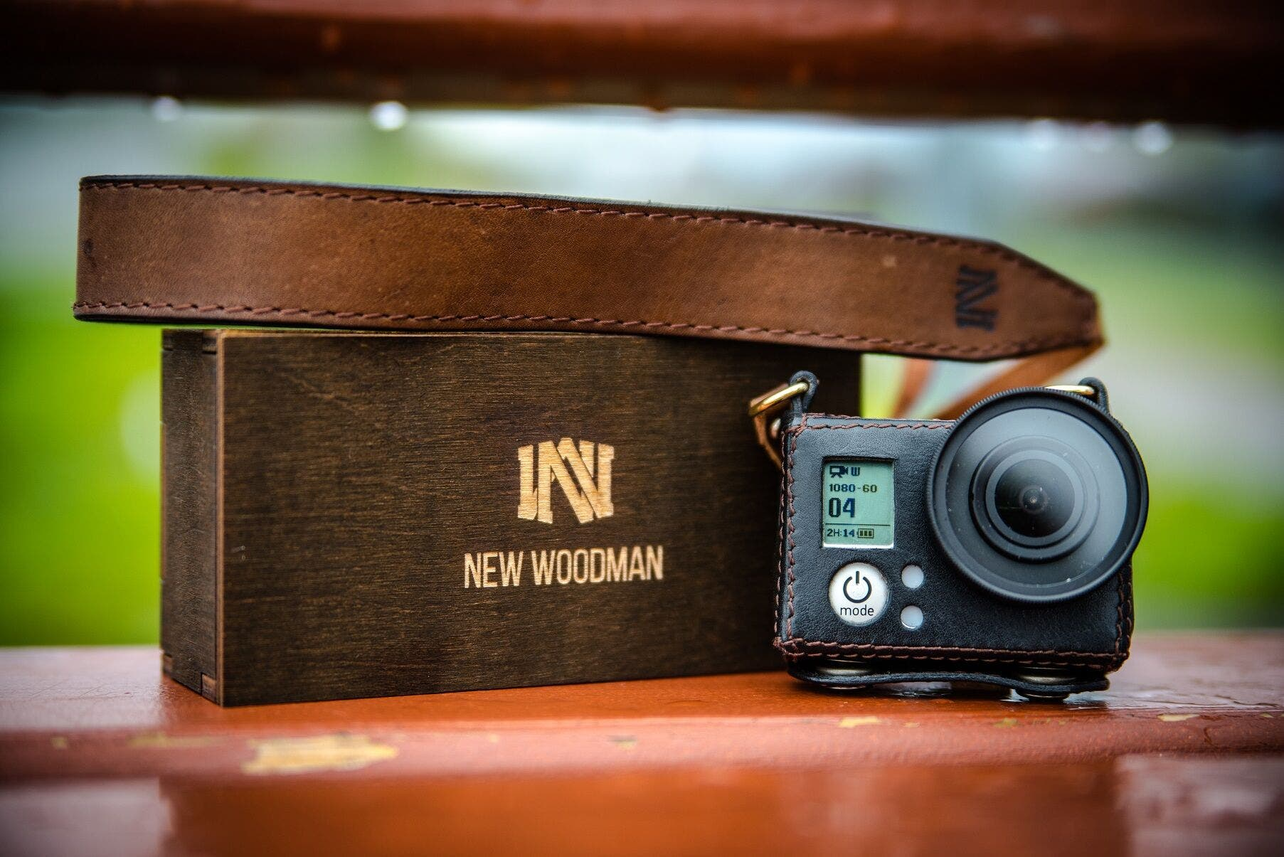 The New Woodman Provides Leather Style and New Portability Option for Your GoPro Camera