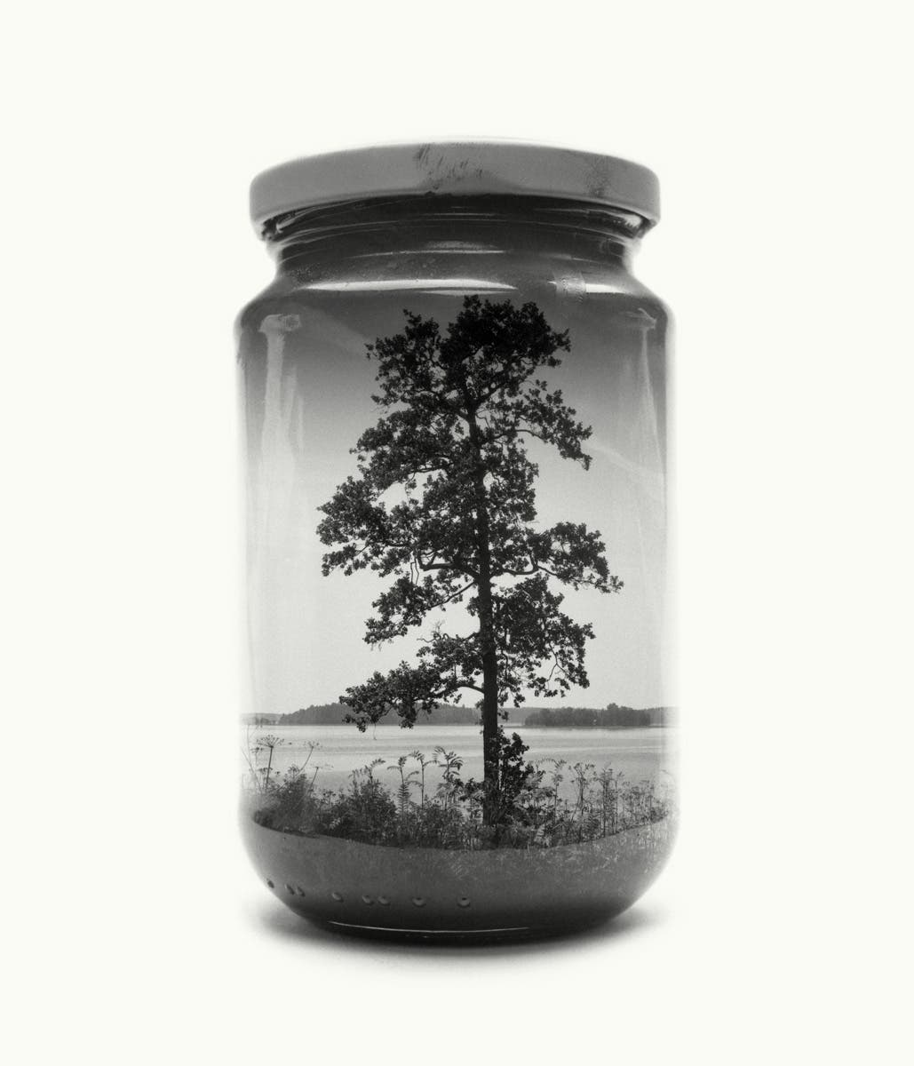 Christoffer Relander Collects Landscapes in Jars By Using Double Exposure