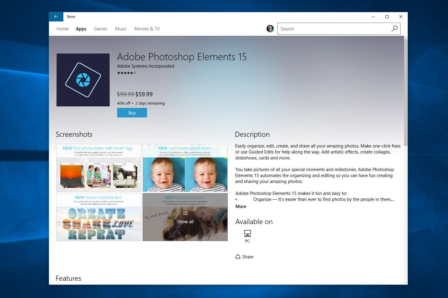 You Can Now Get Adobe Photoshop Elements 15 In The Windows Store