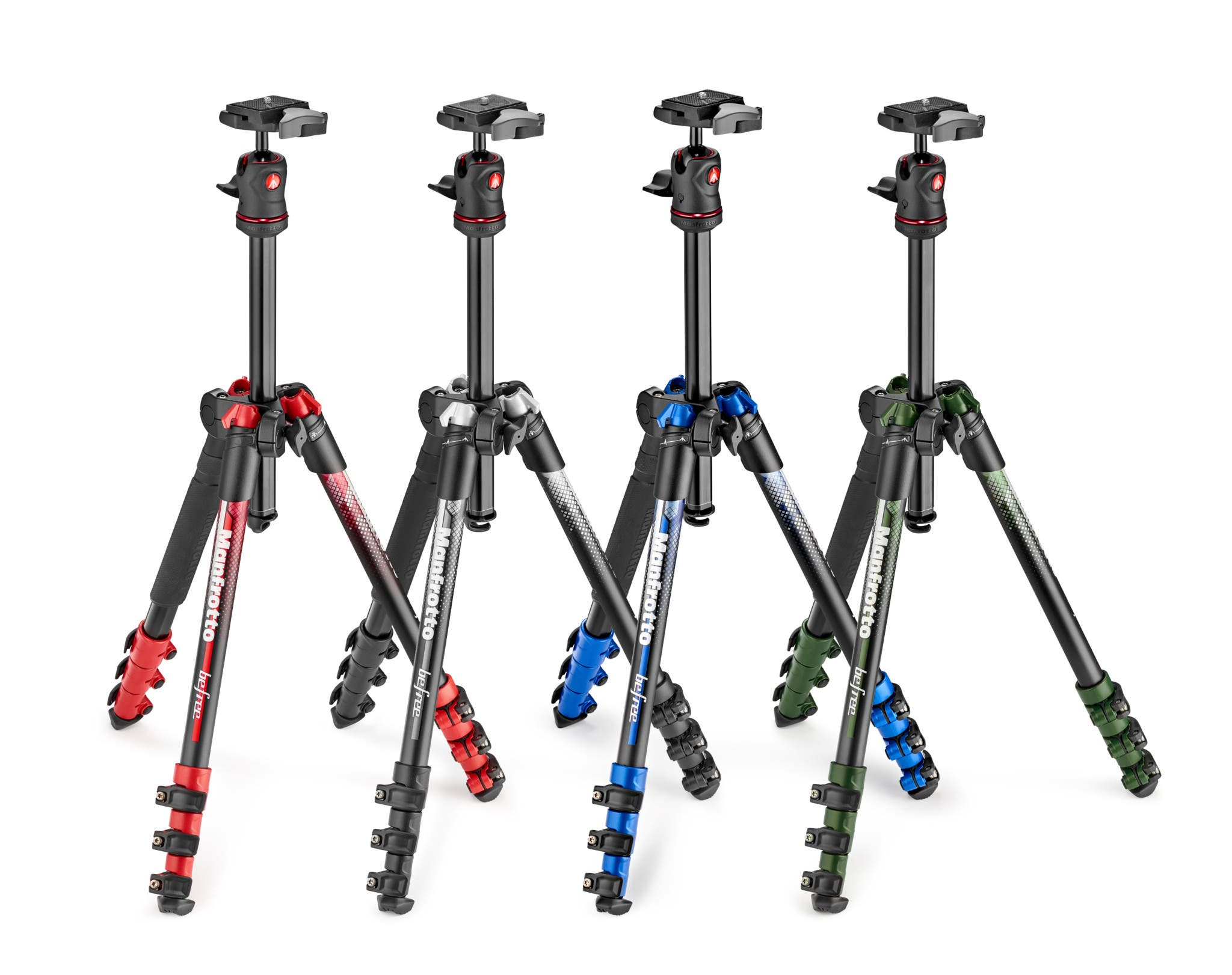 Manfrotto Introduces Four New Colors in Its Befree Tripod Line