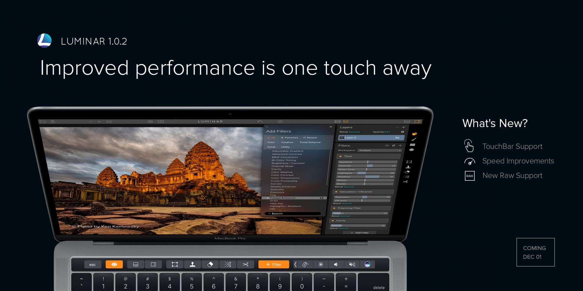 Macphun's Luminar Photo-Editing Software Adds Support for Macbook Pro Touchbar
