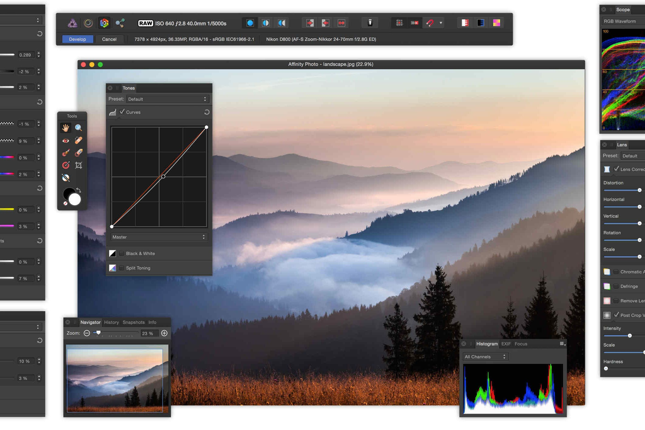 Affinity Photo Version 1.5 Update Brings Full Cross Compatability